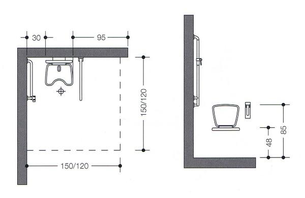 behindertengerechte dusche ma e eckventil waschmaschine. Black Bedroom Furniture Sets. Home Design Ideas