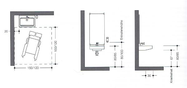 Waschbecken Höhe Bad badezimmer barrierefrei planen artownit for