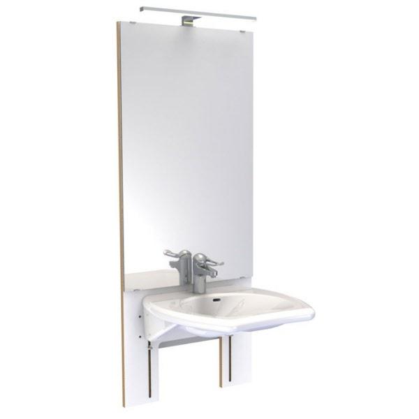 waschtischkonsole manuell h henverstellbar m waschbecken m spiegel. Black Bedroom Furniture Sets. Home Design Ideas