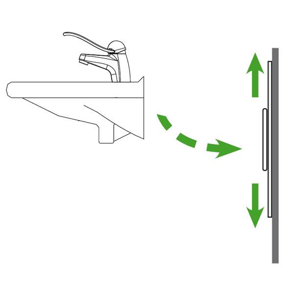 Waschbecken Waschtisch Konsole Lift Lifter hoehenverstellbar