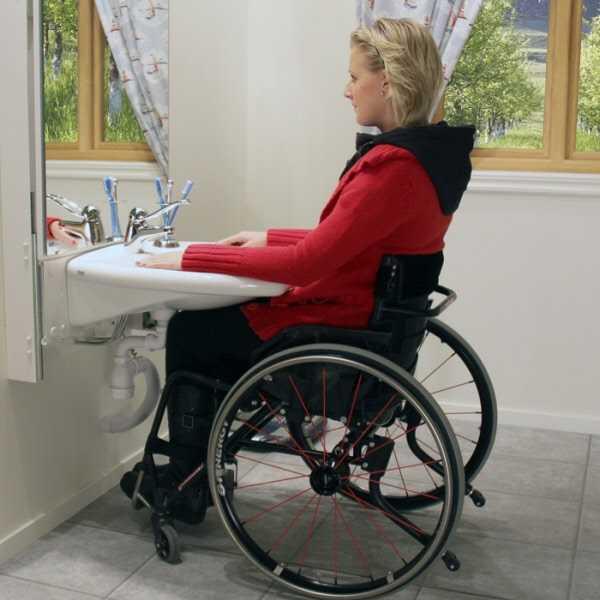 waschtischlift motorisch h henverstellbar t3 6 cm m spiegel beleuchtet m taster. Black Bedroom Furniture Sets. Home Design Ideas