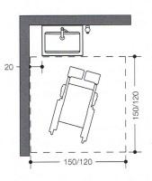 waschbecken waschtisch altengerecht barrierefrei rollstuhl unterfahrbar stuetzgriff klappgriff. Black Bedroom Furniture Sets. Home Design Ideas