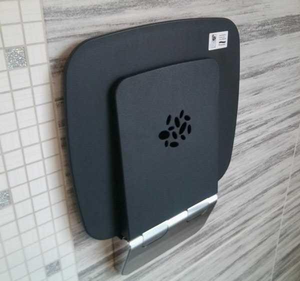dusch und duschklappsitz privat und ffentlich. Black Bedroom Furniture Sets. Home Design Ideas