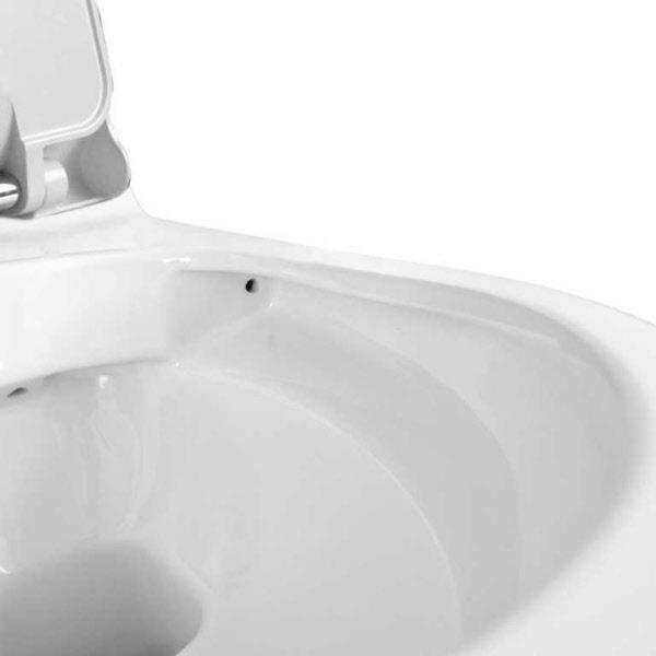 wand dusch wc min sp lrandlos mit sicherheitsset weiss mit armatur mit sitz. Black Bedroom Furniture Sets. Home Design Ideas
