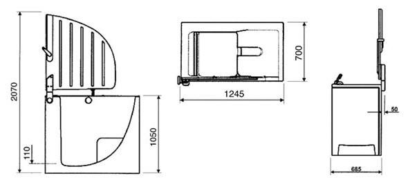 Dusche Begehbar Ma?e : Badewanne mit Tuer Modell Aventas SW2 1245x700mm Farbe weiss